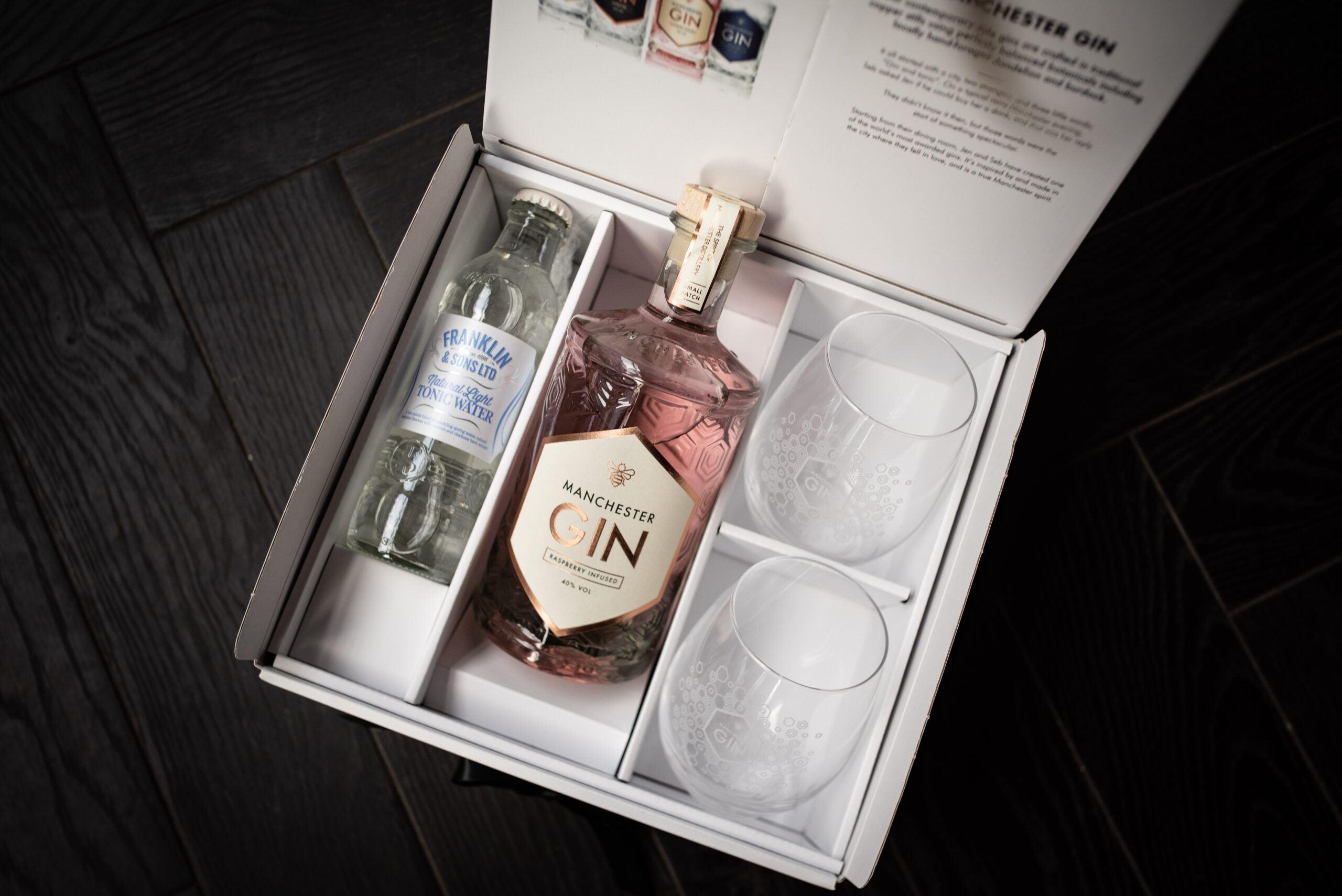 raspberry gin gift set
